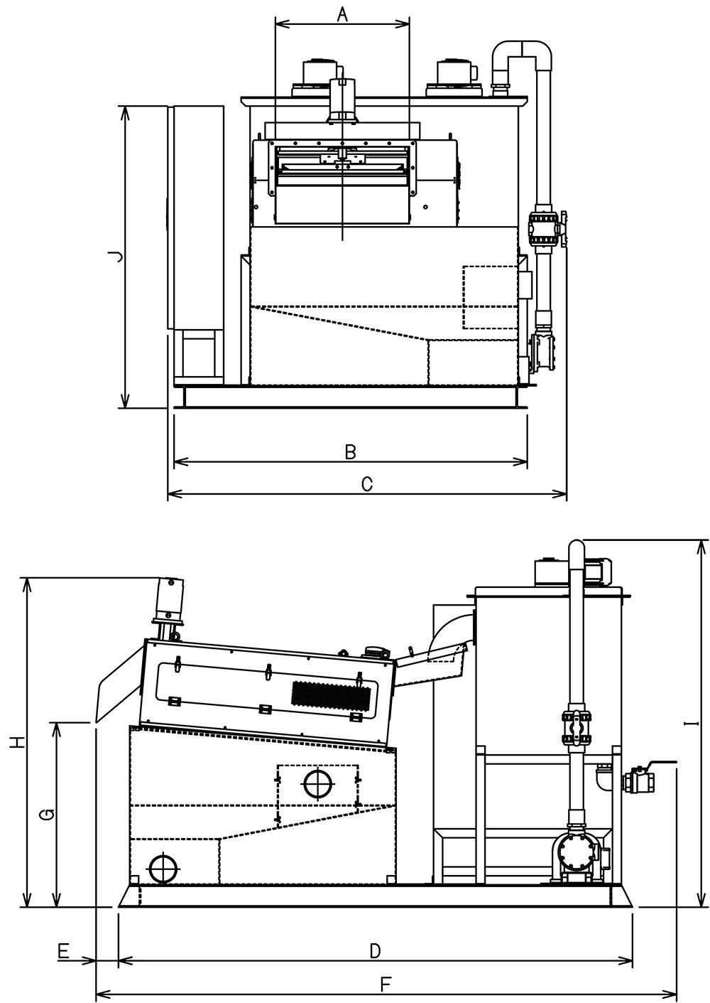 スリットセーバーシステム寸法図